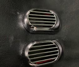 Решетка на повторитель `Овал` (2 шт, ABS) Citroen Nemo 2008