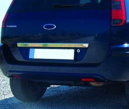Накладка над номером (нерж.) Ford Fusion 2002-2009