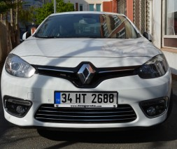 Renault Fluence 2013 Накладки на решетку бампера Carmos