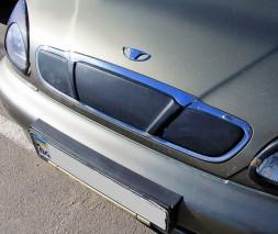 Зимняя накладка на решетку (верхняя) Chevrolet Lanos