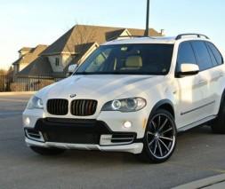 Накладка на передний бампер (под покраску) BMW X5 E-70 2007-2013