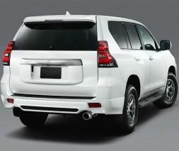 Toyota Prado 150 Накладки на передний и задний бампер TRD (2017-) в белом цвете