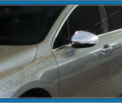 Накладки на зеркала (2 шт, нерж) Peugeot 508 2010-2018