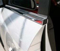 Окантовка стекол (4 шт, нерж) Nissan Micra K12 2003-2010