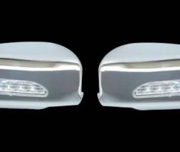 Накладки на зеркала LED (2 шт, пласт) Mitsubishi Lancer 9 2004-2008