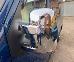 Накладки на зеркала (2 шт, пласт.) Nissan NV400 2010