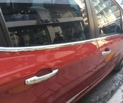 Молдинг стекол (4 шт, нерж) Peugeot 208