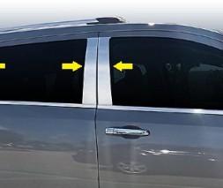 Молдинг дверных стоек (нерж.) Dodge Journey 2008