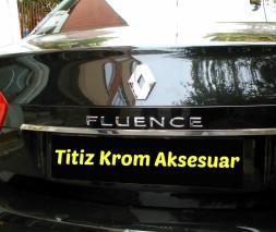 Полоска над номером (нерж.) Renault Fluence 2009