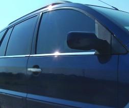 Наружняя окантовка стекол (4 шт, нерж.) Ford Fusion 2002-2009