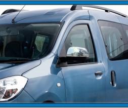 Накладки на зеркала (2 шт, нерж.) Renault Dokker 2013