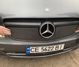 Зимняя накладка на решетку V1 (2010-2015) Mercedes Vito W639 2004-2015