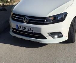 Накладка на передний бампер (под покраску) Volkswagen Caddy 2015
