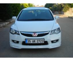 Накладка на передний бампер 2009-2011 (под покраску) Honda Civic Sedan VIII 2006-2011