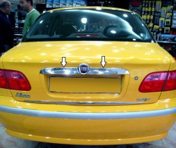 Хром планка над номером (нерж.) Fiat Albea 2002