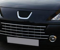 Цельно-нержавеющая решетка (нерж.) Peugeot 307