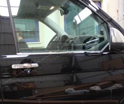 Окантовка стекол (2 шт, нерж) Volkswagen T6 2015
