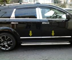 Молдинг дверной (4 шт, нерж.) Dodge Journey 2008