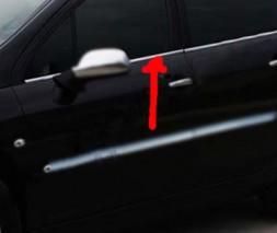 Наружняя окантовка стекол (4 шт, нерж) Peugeot 407