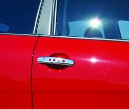 Skoda Fabia 2000-2014 Накладки на дверные ручки OmsaLine 4 дверный с дырочками
