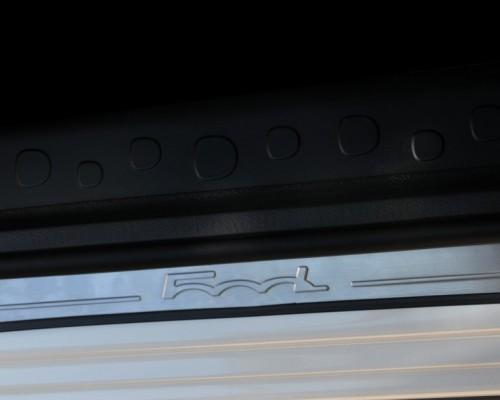 Накладки на пороги 500L (OmsaLine, 4 шт., нерж) Fiat 500L