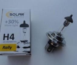 "Лампа Н4 12v 100/90wt Р43 Starlight + 30% (коробка) ""SOLAR"""