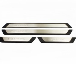 Citroen C-Crosser Накладки на пороги (4 шт) Exclusive