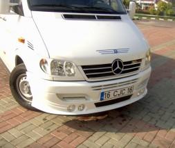 Накладка на бампер 4 фары Mercedes Sprinter 1995-2006