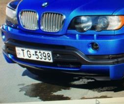 Накладка на передний бампер дорестайл (под покраску) BMW X5 E53 1999-2006