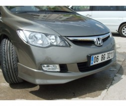 Накладка на передний бампер 2006-2009 (под покраску) Honda Civic Sedan VIII 2006-2011
