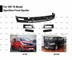 Накладка на передний бампер Sportline (под покраску) Volkswagen T6 2015