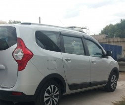 Накладки на арки (4 шт, черные) Dacia Lodgy 2013