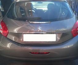 Хром планка над номером (нерж) Peugeot 208