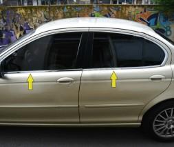 Нижняя окантовка стекол (нерж) Jaguar X-Type