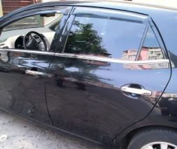 Молдинг стекол (4 шт, нерж) Toyota Auris 2007-2012