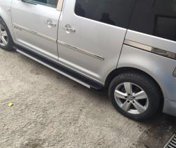 Молдинги хром под сдвижную дверь VW Caddy (2 шт) на короткую базу