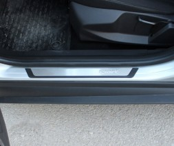 Накладки на пороги Flexill (4 шт, нерж) Dacia Lodgy 2013