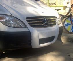 Mercedes Vito 639 Передняя губа под покраску 2010-2015