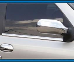 Наружняя окантовка стекол (4 шт, нерж.) Fiat Albea 2002
