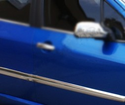 Молдинг дверной (4 шт, нерж) Peugeot 307