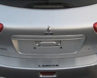 Накладка на задний бампер без загиба SW (нерж.) Mitsubishi Lancer X 2008