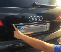 Хром планка над номером (нерж) Audi Q7 2005-2015