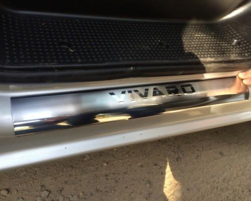 Пороги на карниз VIP-style (2 шт, нерж.) Opel Vivaro 2001-2015