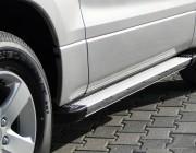 Пороги Audi Q7 EB001 (Elegance Silver)